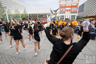 Flashmob mit den Cheerleadern